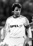 1985/86 Klaus Fischer im Opel Trikot