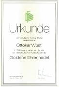 1992 DFB Goldene Ehrennadel Ottokar Wüst