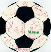 1968 Menü zum Pokalendspiel 1