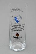 1982-83 VfL Bochum Stern Pils Glas mit Unterschriften