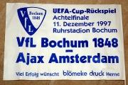 1997 Fähnchen zum Uefa-Cupspiel gegen Ajax Amsterdam